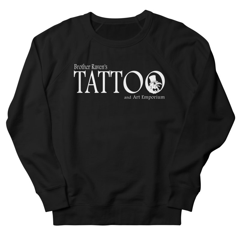 Brother Raven's Logo Gear - Dark Men's French Terry Sweatshirt by Inkslinger Erick Designs