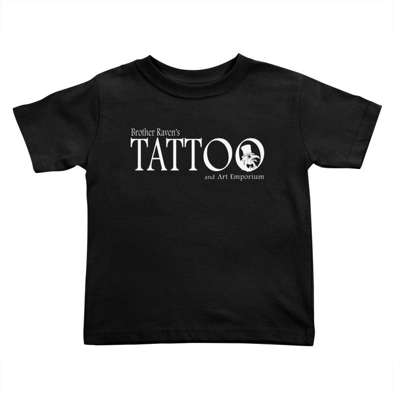 Brother Raven's Logo Gear - Dark Kids Toddler T-Shirt by Inkslinger Erick Designs