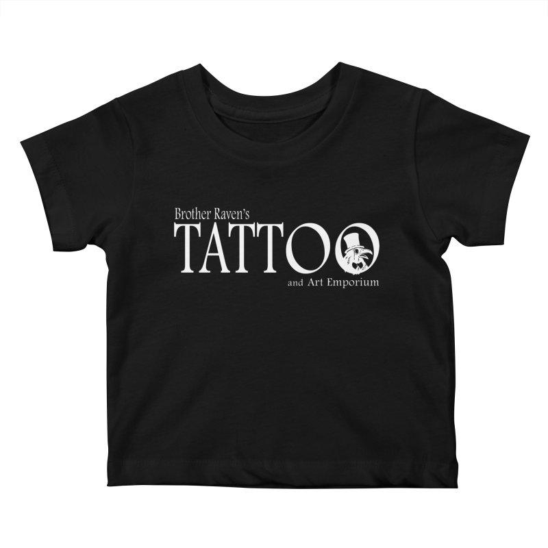 Brother Raven's Logo Gear - Dark Kids Baby T-Shirt by Inkslinger Erick Designs