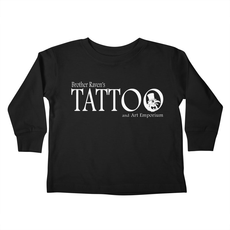 Brother Raven's Logo Gear - Dark Kids Toddler Longsleeve T-Shirt by Inkslinger Erick Designs