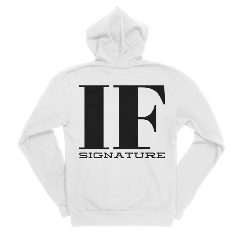 IF SIGNATURE Women's Sponge Fleece Zip-Up Hoody by IF Creation's Artist Shop