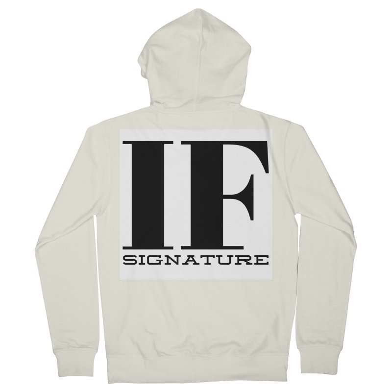 IF SIGNATURE Women's French Terry Zip-Up Hoody by IF Creation's Artist Shop