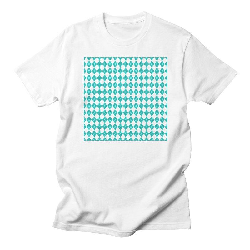AQUA DIAMOND Men's Regular T-Shirt by IF Creation's Artist Shop