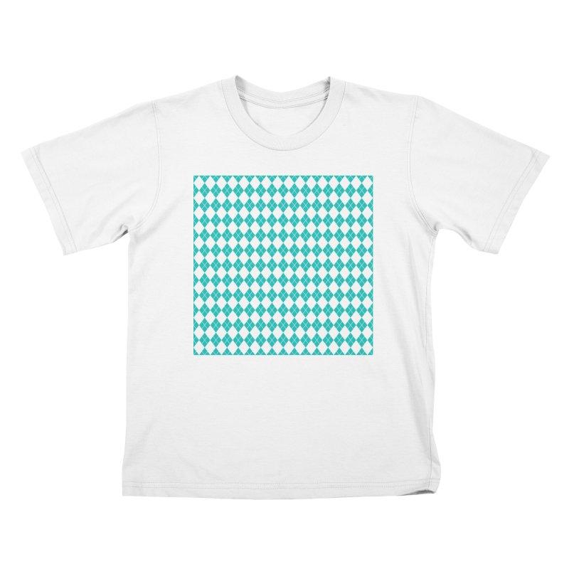 AQUA DIAMOND Kids Toddler T-Shirt by IF Creation's Artist Shop