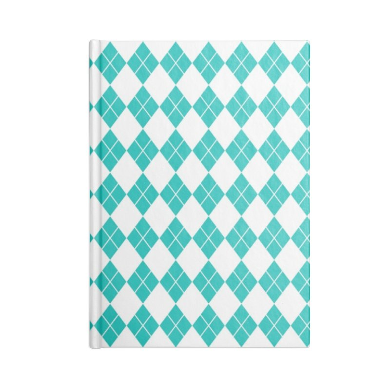 AQUA DIAMOND Accessories Blank Journal Notebook by IF Creation's Artist Shop