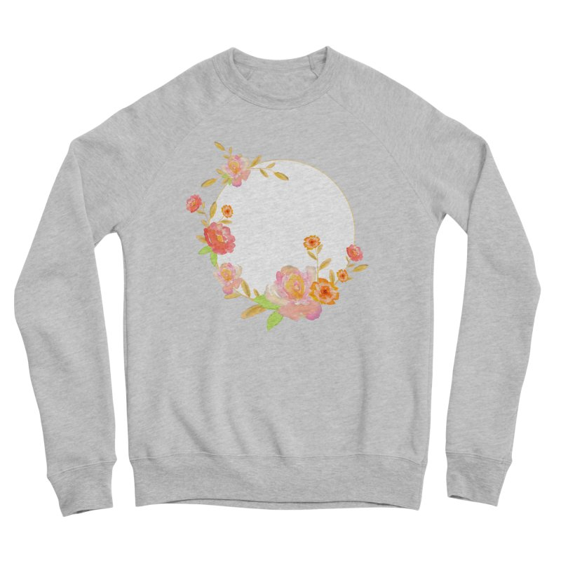 ORANGE FLORAL WATERCOLOR Women's Sweatshirt by IF Creation's Artist Shop