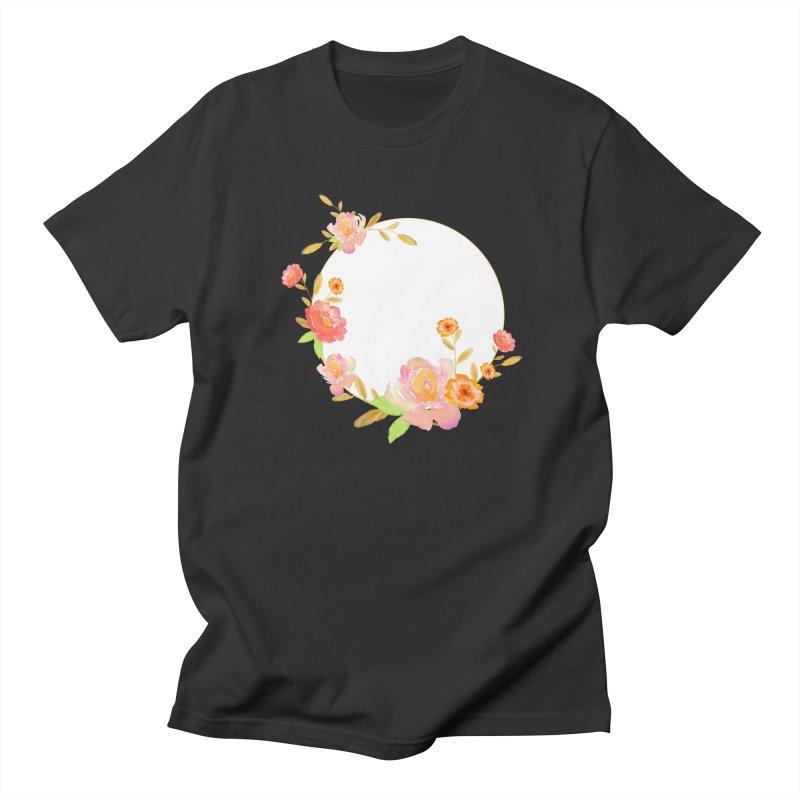 ORANGE FLORAL WATERCOLOR Men's T-Shirt by IF Creation's Artist Shop