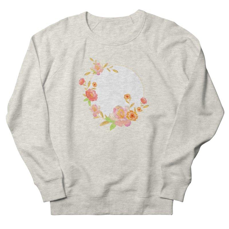 ORANGE FLORAL WATERCOLOR Women's Sweatshirt by IF Creation's Artist Shop
