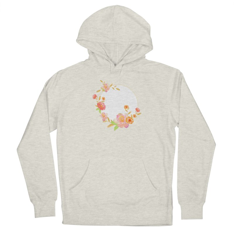 ORANGE FLORAL WATERCOLOR Women's Pullover Hoody by IF Creation's Artist Shop
