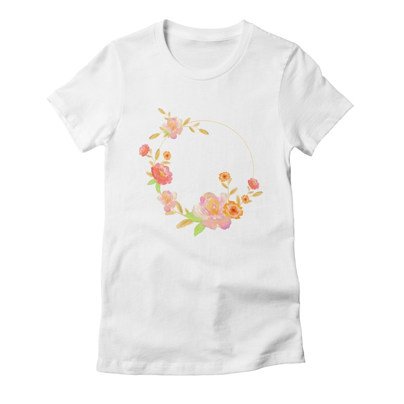 ORANGE FLORAL WATERCOLOR Women's T-Shirt by IF Creation's Artist Shop