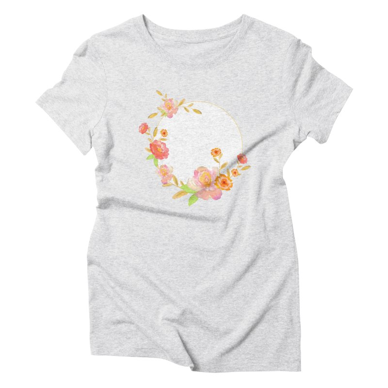 ORANGE FLORAL WATERCOLOR Women's T-Shirt by IF Creation's Artist Shop