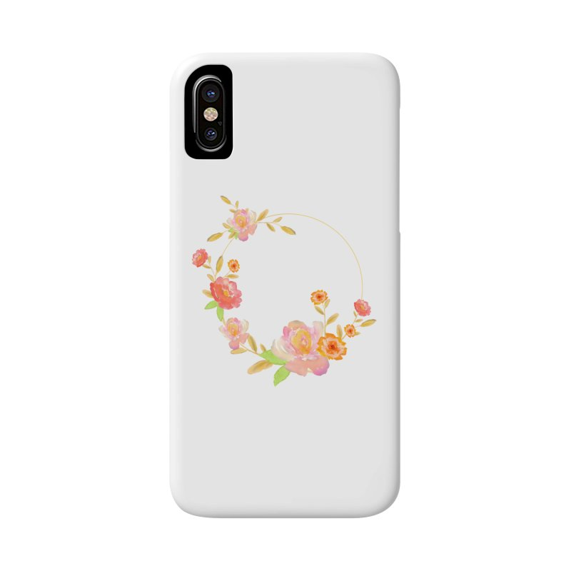 ORANGE FLORAL WATERCOLOR Accessories Phone Case by IF Creation's Artist Shop