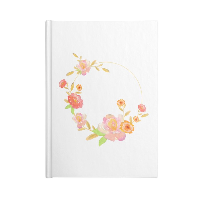 ORANGE FLORAL WATERCOLOR Accessories Blank Journal Notebook by IF Creation's Artist Shop