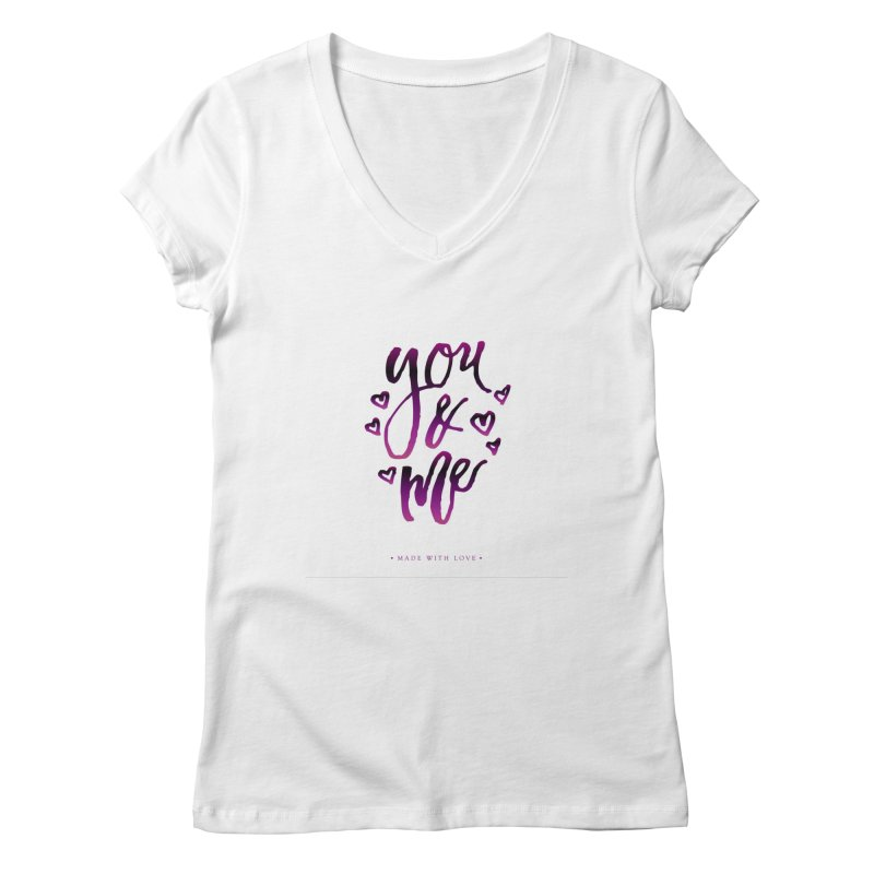 you & me Women's V-Neck by IF Creation's Artist Shop