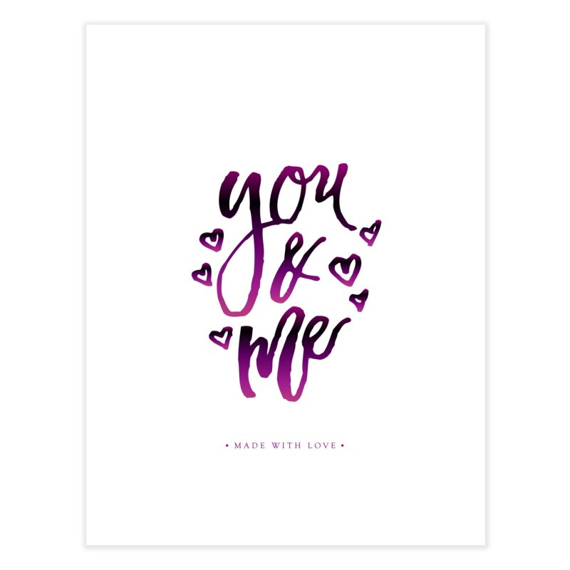 you & me Home Fine Art Print by IF Creation's Artist Shop
