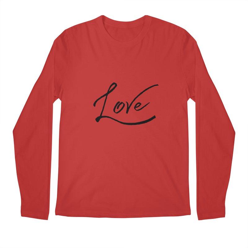 Love Men's Regular Longsleeve T-Shirt by IF Creation's Artist Shop