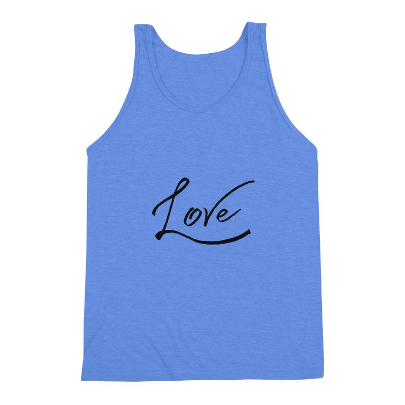 Love Men's Triblend Tank by IF Creation's Artist Shop