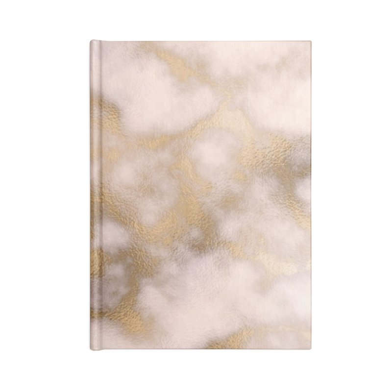 GOLD & TAN MARBLE Accessories Blank Journal Notebook by IF Creation's Artist Shop
