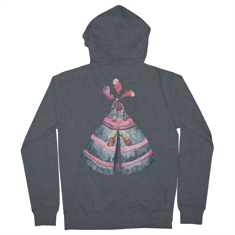 wigwam Women's French Terry Zip-Up Hoody by IF Creation's Artist Shop