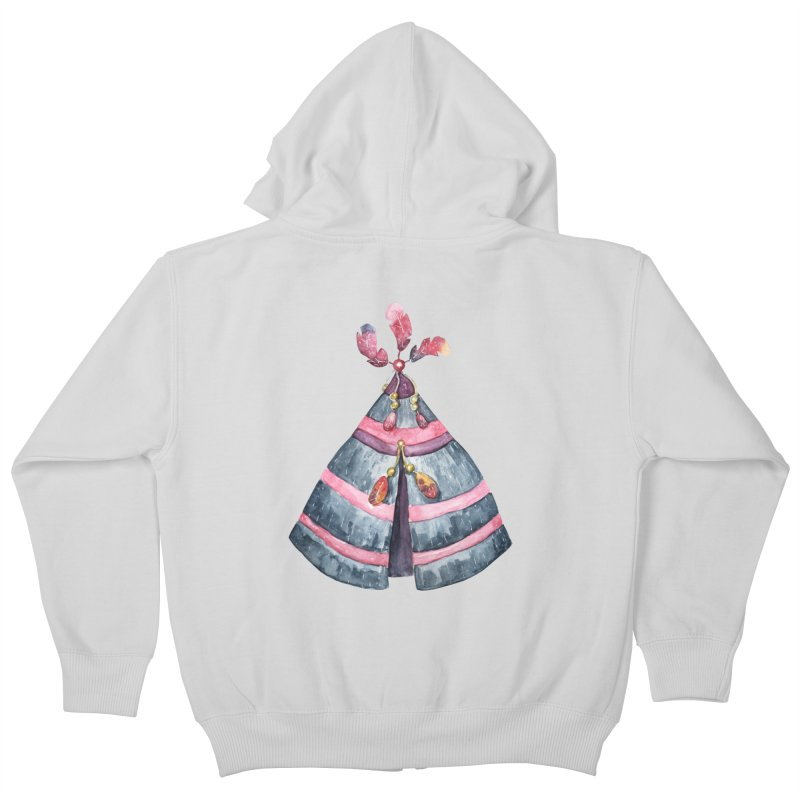 wigwam Kids Zip-Up Hoody by IF Creation's Artist Shop