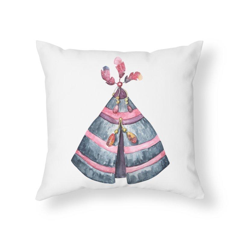 wigwam Home Throw Pillow by IF Creation's Artist Shop