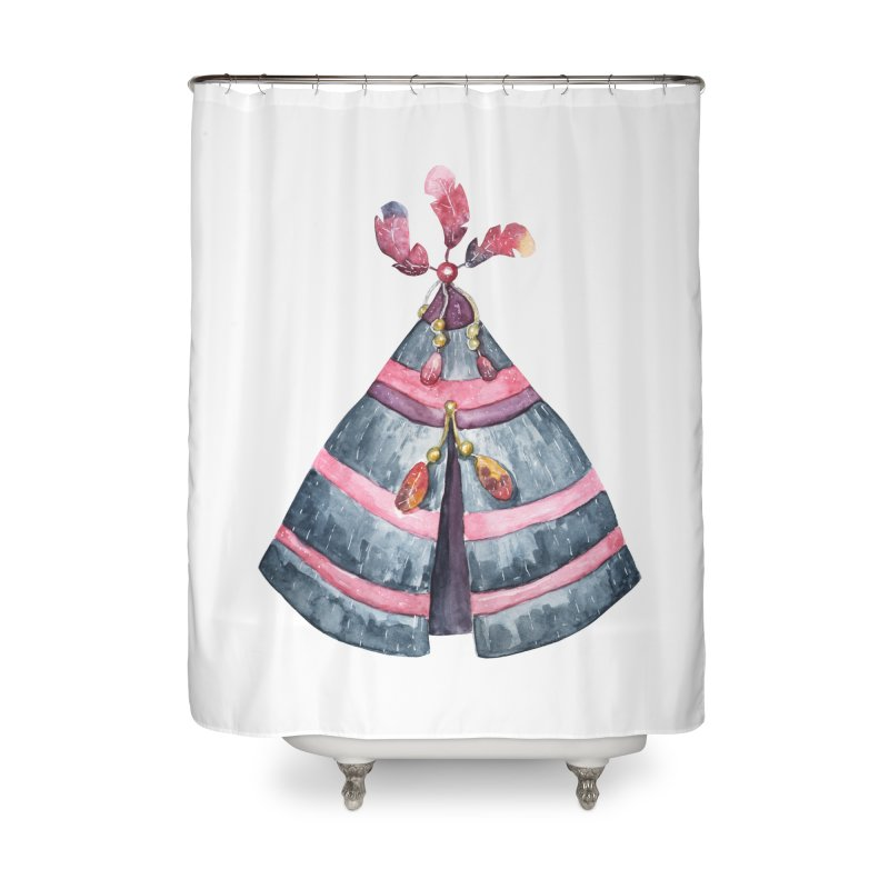 wigwam Home Shower Curtain by IF Creation's Artist Shop