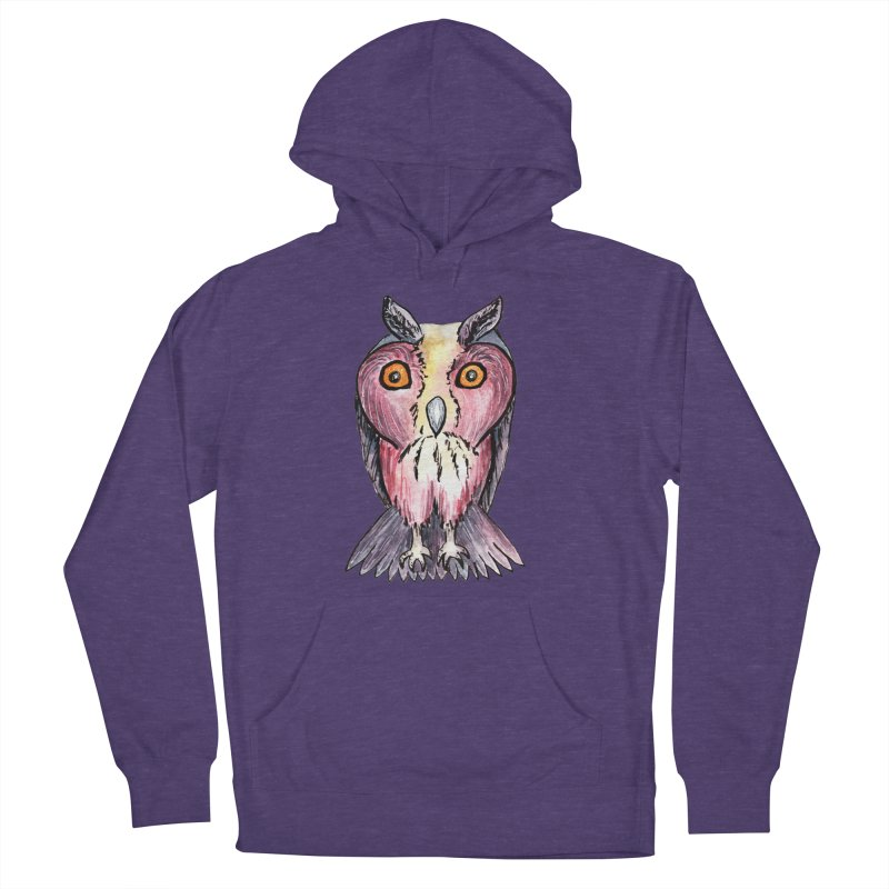 Tribe Owls Men's French Terry Pullover Hoody by IF Creation's Artist Shop