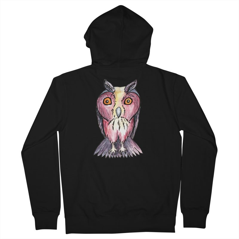 Tribe Owls Women's French Terry Zip-Up Hoody by IF Creation's Artist Shop