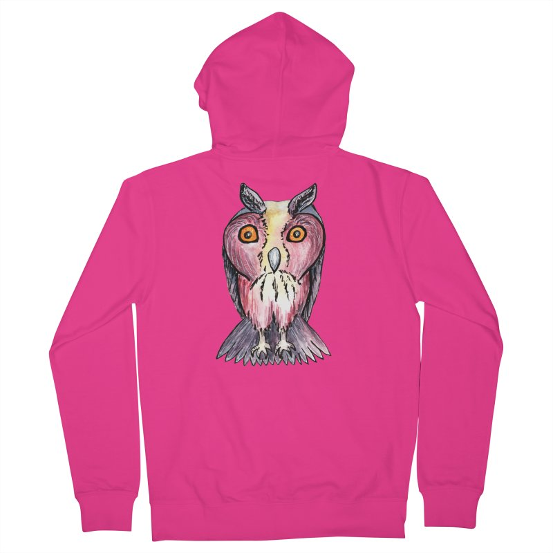 Tribe Owls Men's French Terry Zip-Up Hoody by IF Creation's Artist Shop