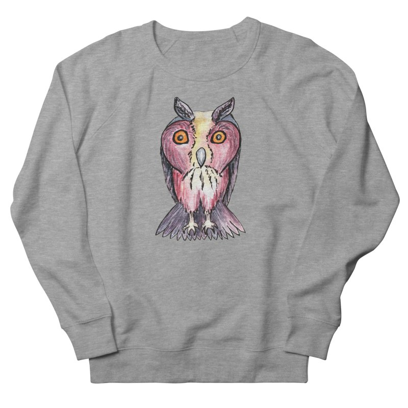 Tribe Owls Men's French Terry Sweatshirt by IF Creation's Artist Shop