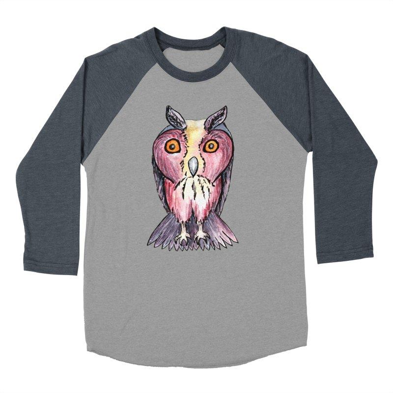 Tribe Owls Women's Baseball Triblend Longsleeve T-Shirt by IF Creation's Artist Shop