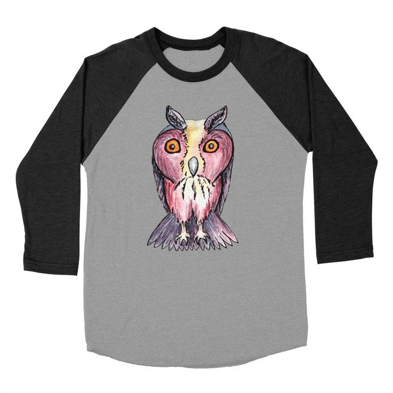 Tribe Owls Men's Baseball Triblend Longsleeve T-Shirt by IF Creation's Artist Shop
