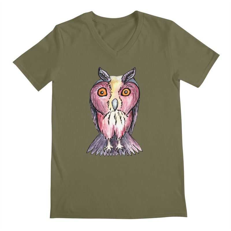 Tribe Owls Men's V-Neck by IF Creation's Artist Shop