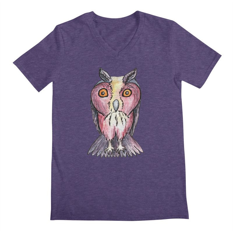 Tribe Owls Men's V-Neck by IF Creation's Artist Shop