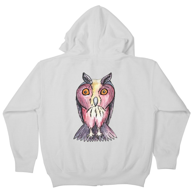 Tribe Owls Kids Zip-Up Hoody by IF Creation's Artist Shop