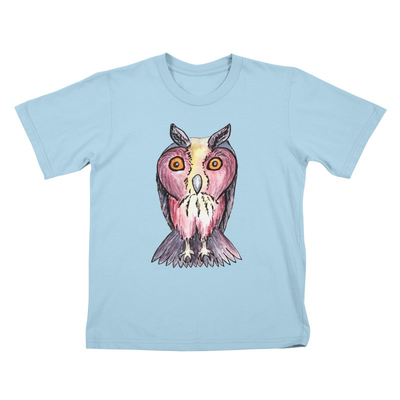 Tribe Owls Kids T-Shirt by IF Creation's Artist Shop