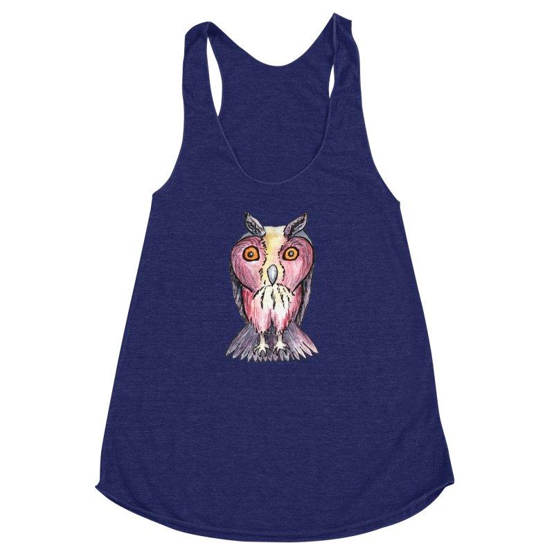 Tribe Owls Women's Racerback Triblend Tank by IF Creation's Artist Shop
