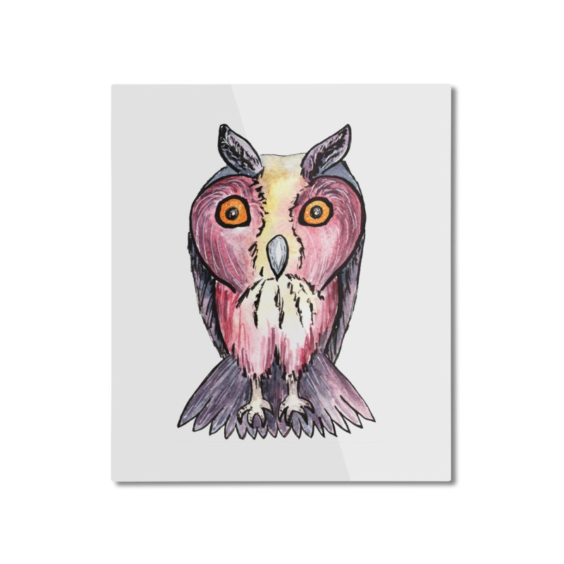 Tribe Owls Home Mounted Aluminum Print by IF Creation's Artist Shop