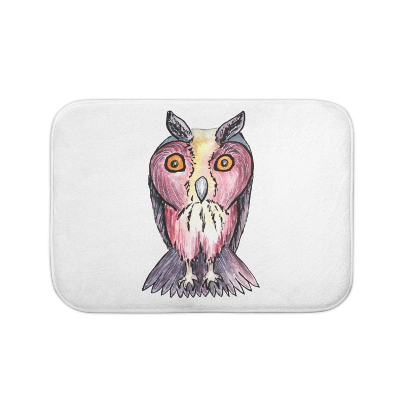 Tribe Owls Home Bath Mat by IF Creation's Artist Shop