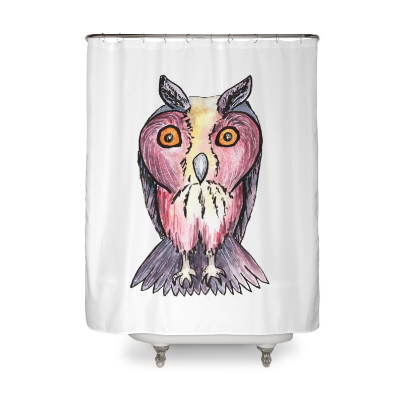 Tribe Owls Home Shower Curtain by IF Creation's Artist Shop