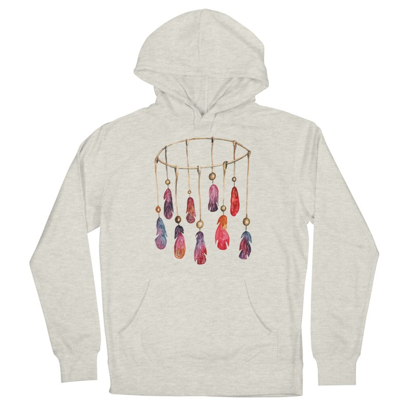 DreamCatcher Feathers Men's French Terry Pullover Hoody by IF Creation's Artist Shop