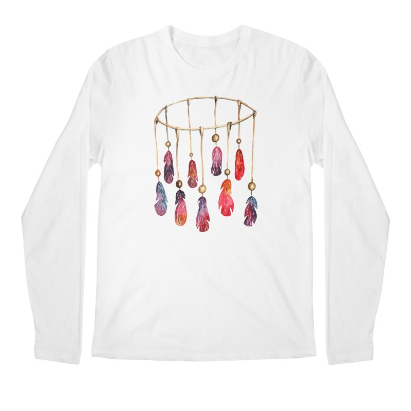 DreamCatcher Feathers Men's Regular Longsleeve T-Shirt by IF Creation's Artist Shop