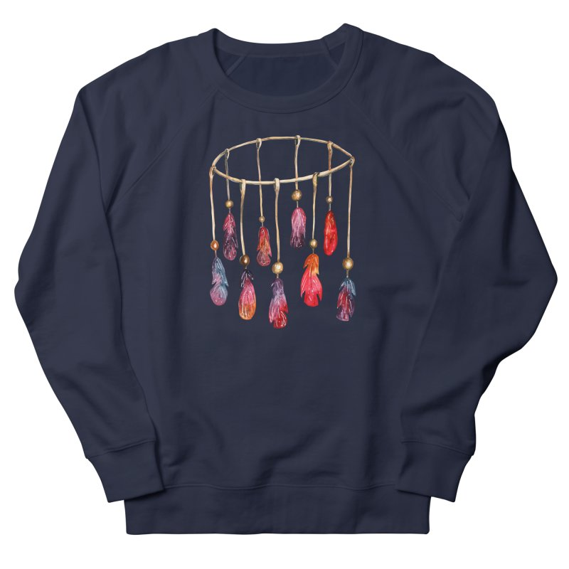 DreamCatcher Feathers Men's French Terry Sweatshirt by IF Creation's Artist Shop