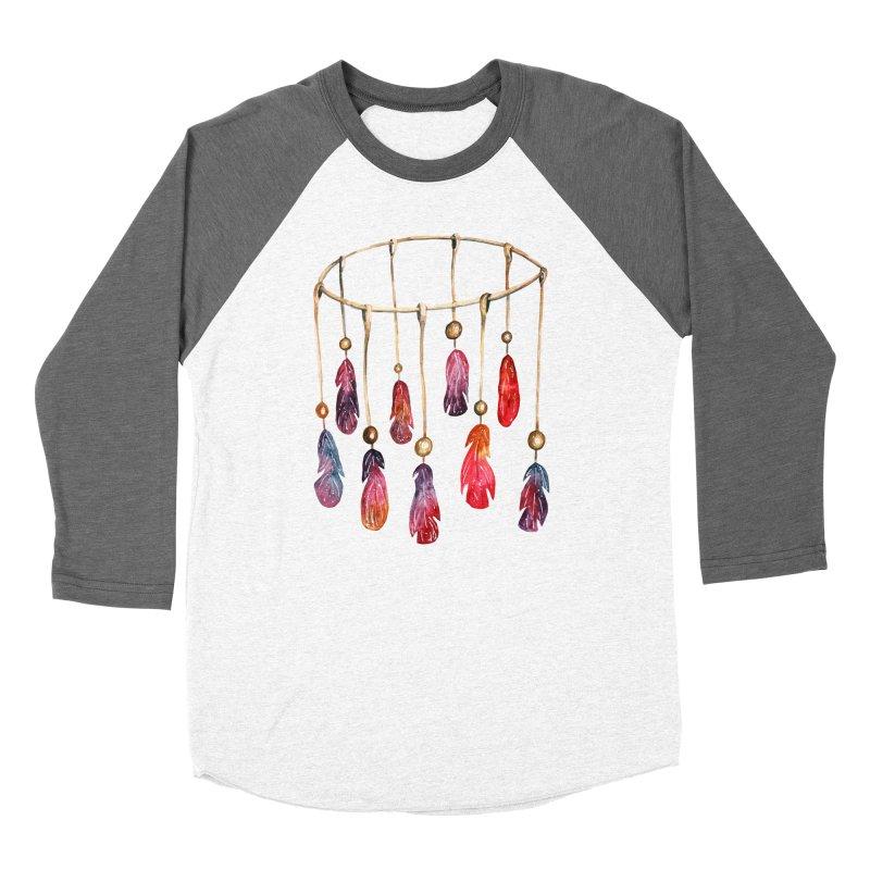 DreamCatcher Feathers Women's Baseball Triblend Longsleeve T-Shirt by IF Creation's Artist Shop