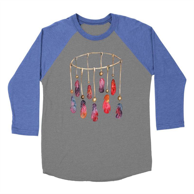 DreamCatcher Feathers Men's Baseball Triblend T-Shirt by IF Creation's Artist Shop