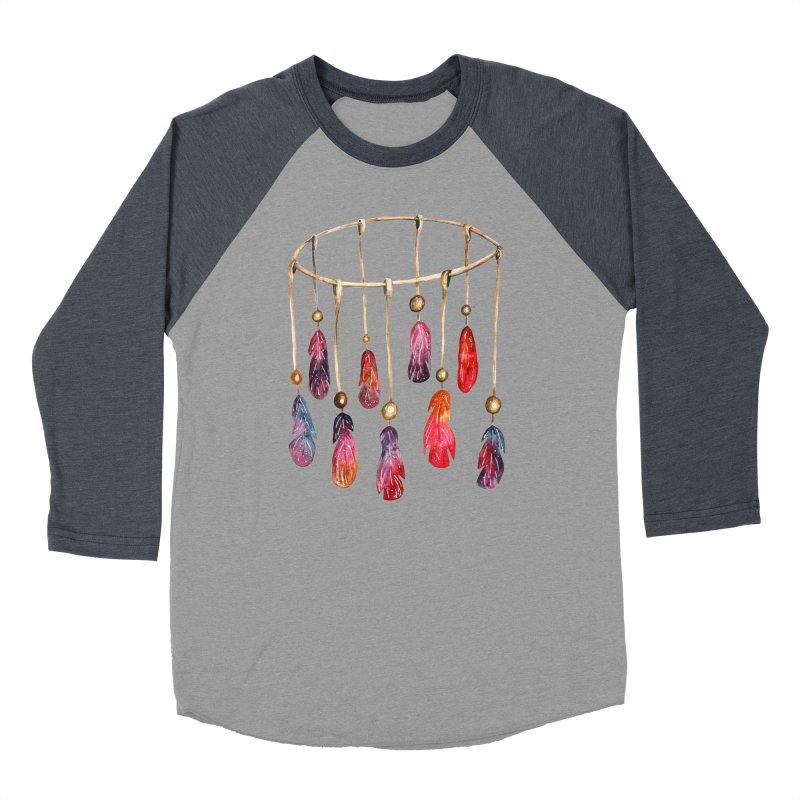 DreamCatcher Feathers Men's Baseball Triblend Longsleeve T-Shirt by IF Creation's Artist Shop