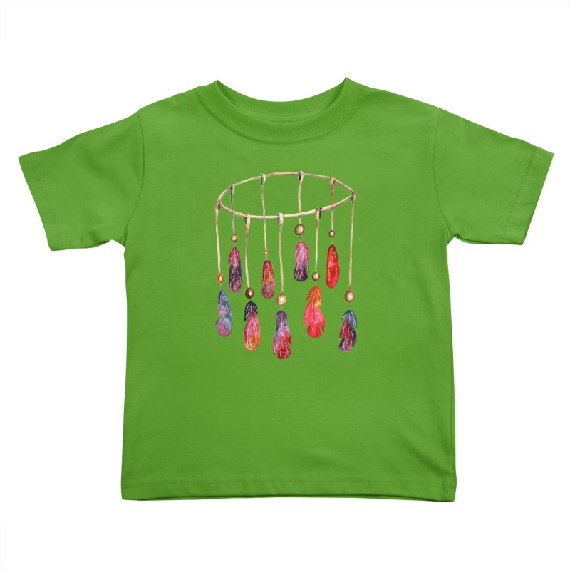 DreamCatcher Feathers Kids Toddler T-Shirt by IF Creation's Artist Shop