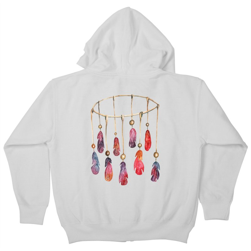 DreamCatcher Feathers Kids Zip-Up Hoody by IF Creation's Artist Shop