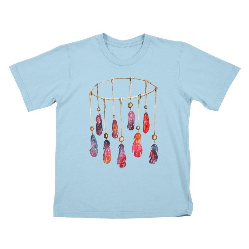 DreamCatcher Feathers Kids T-Shirt by IF Creation's Artist Shop