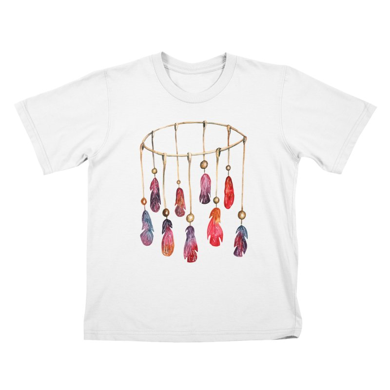 DreamCatcher Feathers Kids T-Shirt by IF Creation's Artist Shop